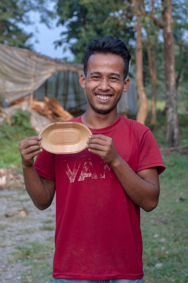 Pommesschale Hari 18,5cm incl. 1 Pickser für 140g Pommes